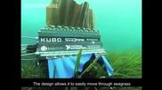 Робот с четири перки плува като сепия
