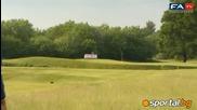 Рууни и компания загряват с голф за Евро 2012