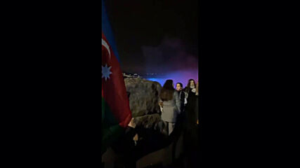 Canada: Niagara Falls lit up in colours of Azerbaijani flag to mark Independence Day