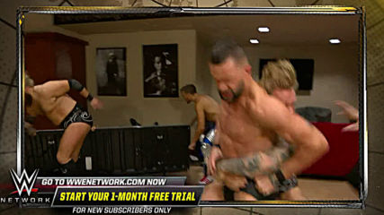Tyler Bate stops Finn Bálor's backstage attack on Johnny Gargano: WWE Worlds Collide, Jan. 25, 2020