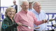 Bill Clinton Stays Off Hillary's Toes, for Now
