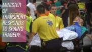 Over 50 injured in shocking train crash in Barcelona
