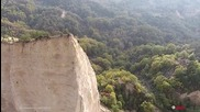 Мелнишките пирамиди от птичи поглед