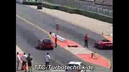 Vw Golf R32 Twin Turbo Vs. Ferrari