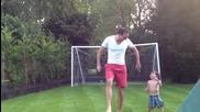 Лош татко центрира сина си