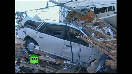 Снимки преди и след цунамито в Япония