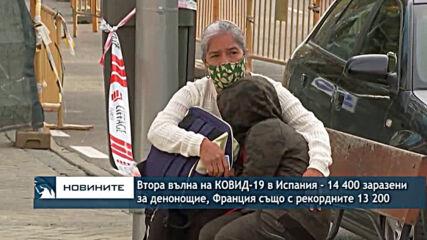 Втора вълна на КОВИД-19 в Испания с 14 400 заразени само за ден, Франция - с рекордните 13 200