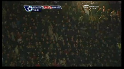 Нюкасъл 1 : 2 Манчестър Юнайтед - Димитър Бербатов
