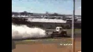 Burnout With Race Truck