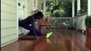 Ето как една гимнастичка може да си отвори вратата, когато си е забравила ключа!