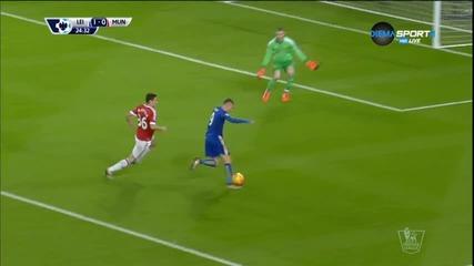 ВИДЕО: Лестър - Манчестър Юнайтед 1:1 на почивката