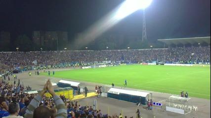 След края на мача Левски - Гент 3:2, 16.09.2010