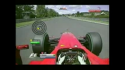 Формула 1: Катастрофата на Ф.маса в квалификацията на пистата Хунгароринг 2009 [25.07]