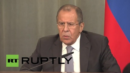 Russia: Russian embassy shelling in Syria an 'obvious terrorist act' - Lavrov