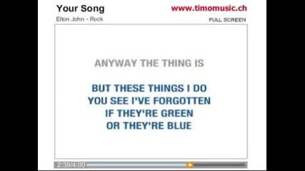 Elton John - Your Song karaoke