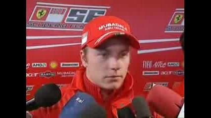 F1 Ferrari F2008 Launch And Kimi Raikkonen