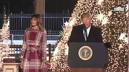 USA: Trump and First Lady Melania light National Christmas Tree