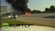 Полицейска камера записва катастрофа на самолет близо до Атланта