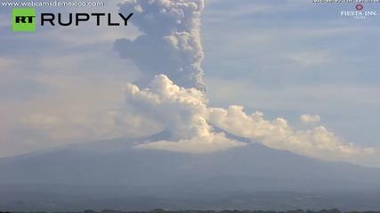 Colima volcano ash cloud hits three kilometres high!