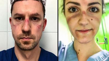 Истински герои: 23 емоционални снимки на лекари, които се борят с COVID-19