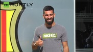 FC Barcelona's Newest Player Arda Turan Arrives Camp Nou