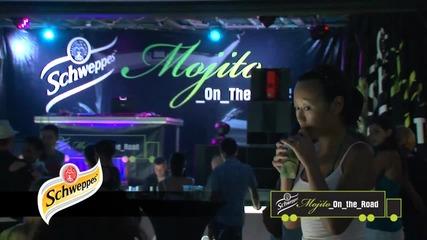 Заснемане на рекламни клипове - Швепс Мохито на турне-Варна