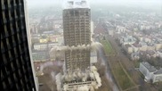 Ето как се събаря 116 метрова сграда за секунди - впечатляващо !