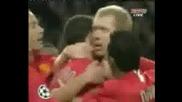 Пол Скоулс Праща Манчестър Юнайтед на финал на Шампионската Лига