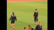Тренировката на Националния отбор по футбол