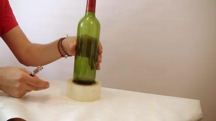 3 начина да срежем стъклена бутилка