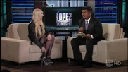 Taylor Momsen Interview Lopez Tonight - Just Tonight - The Pretty Reckless Pe
