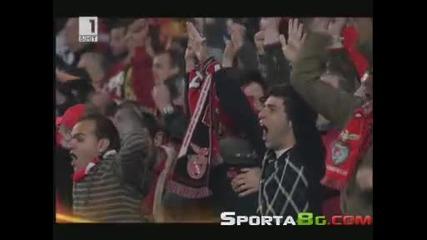 Бенфика 2 - 1 Ливърпул 1/4 - финал Лига Европа (01.04.2010.)