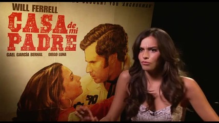 "Genesis Rodriguez says Will Ferrell has a great firm butt in ""casa de mi Padre""."