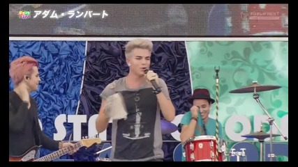 Adam Lambert - Never Close Our Eyes & Cuckoo ( Japan- Mini Concert part 2 31.08.12)