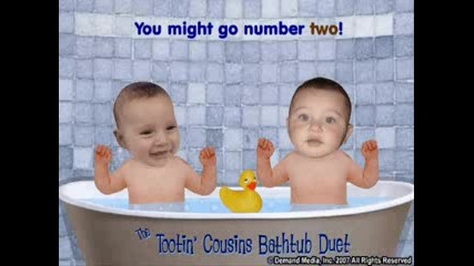 Tootin Bathtub Baby Cousins sladki bebeta