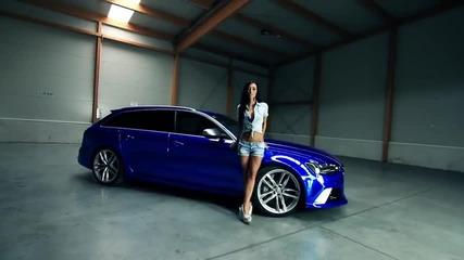 Audi Rs6 - покриване със синьо хромирано фолио !