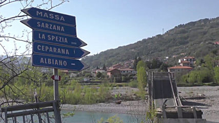 Italy: Emergency personnel work at bridge collapse site in Tuscany