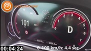 2016 Bmw 7 Series V8 (450 Hp) Acceleration 0-120 km_h Ускорение Бмв