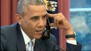 Ало, кой е?! Обама пусна телефонния разговор с националите в ефира