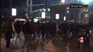 Италианските фенове на Лацио скандират