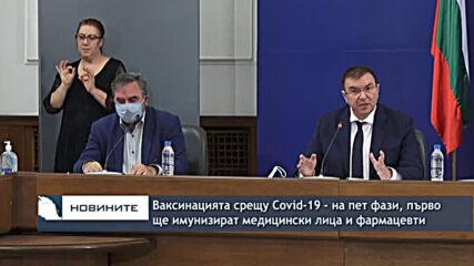Ваксинацията срещу Covid-19 - на пет фази, първо ще имунизират медицински лица и фармацевти
