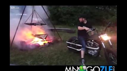 Как се пали огън с мотор