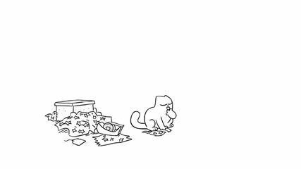 Simons Cat - Sticky Tape
