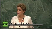 USA: Brazil's Rousseff talks refugees, ISIS, Cuba and Iran at UNGA