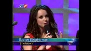 Sarah Brightman - Presenting her new album Symphony at The Early Show on CBS