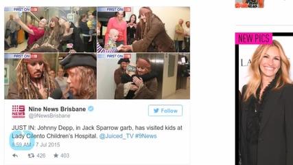 Captain Jack Sparrow Makes a Heartwarming Visit to a Children's Hospital in Australia