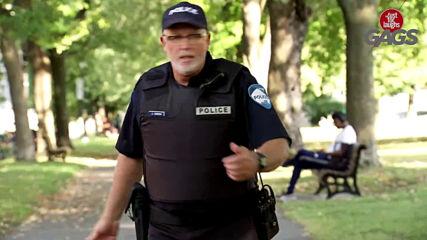 Смешна Скрита Камера - Cop Rips Artificial Leg Off Kid To Break Car Window