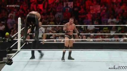 Randy Orton vs Seth Rollins-wwe World Heavyweight Championship match: Първична сила 10.08.2015