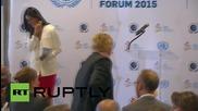 USA: Bono & Mark Zuckerberg talk poverty & human rights at UN headquarters