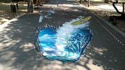 Уникалните 3D рисунки в морската на Варна